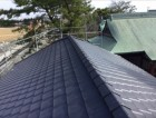 綺麗になった公民館屋根写真