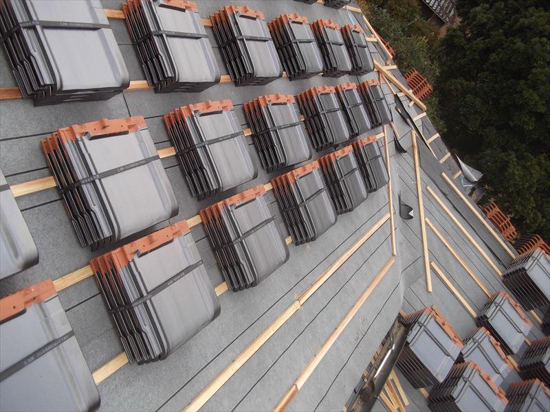 神埼市神埼町S邸木造建築陶器瓦屋根葺き替え工事4