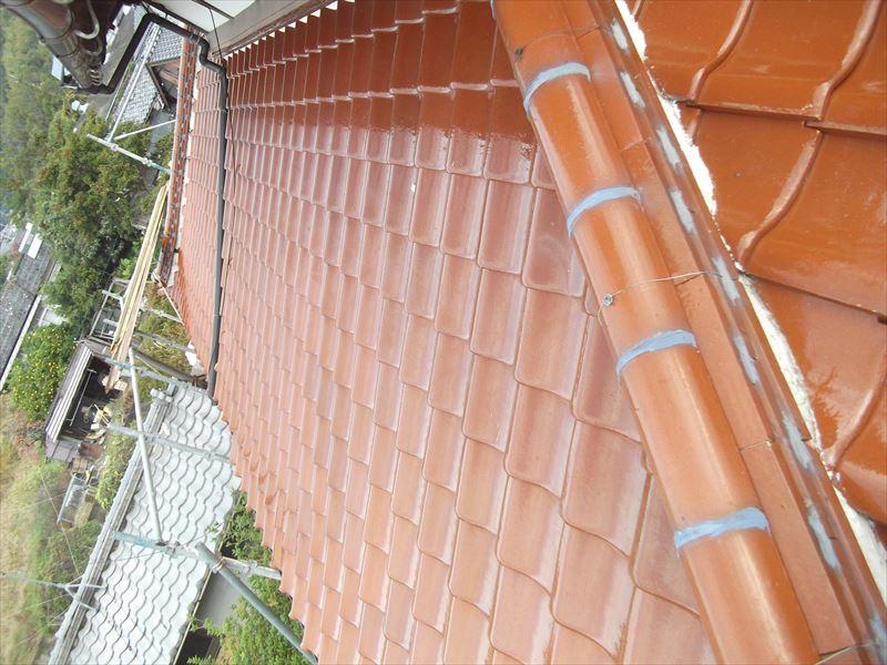 神埼市神埼町S邸木造和風建築陶器瓦屋根葺き替え工事2